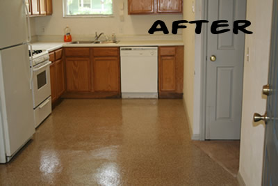 Besides Saving Time, You Can Also Save Money! No More Paying To Refinish  The Floor After Every Tenant.