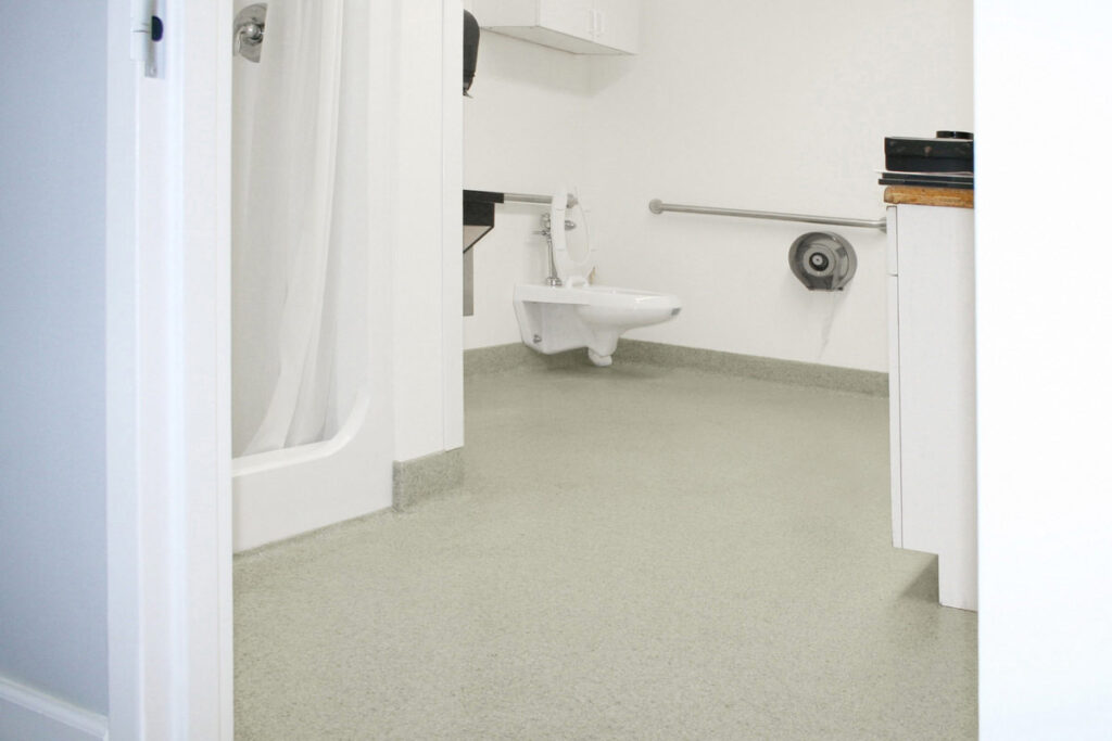 Epoxy flooring for public restrooms
