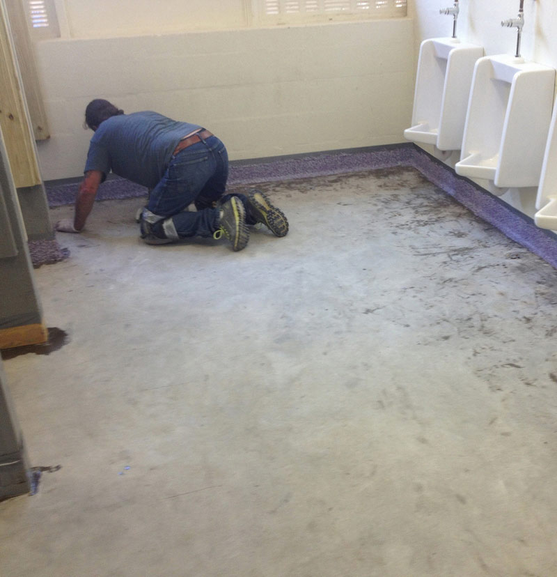 epoxy flooring for washrooms in correctional facilities