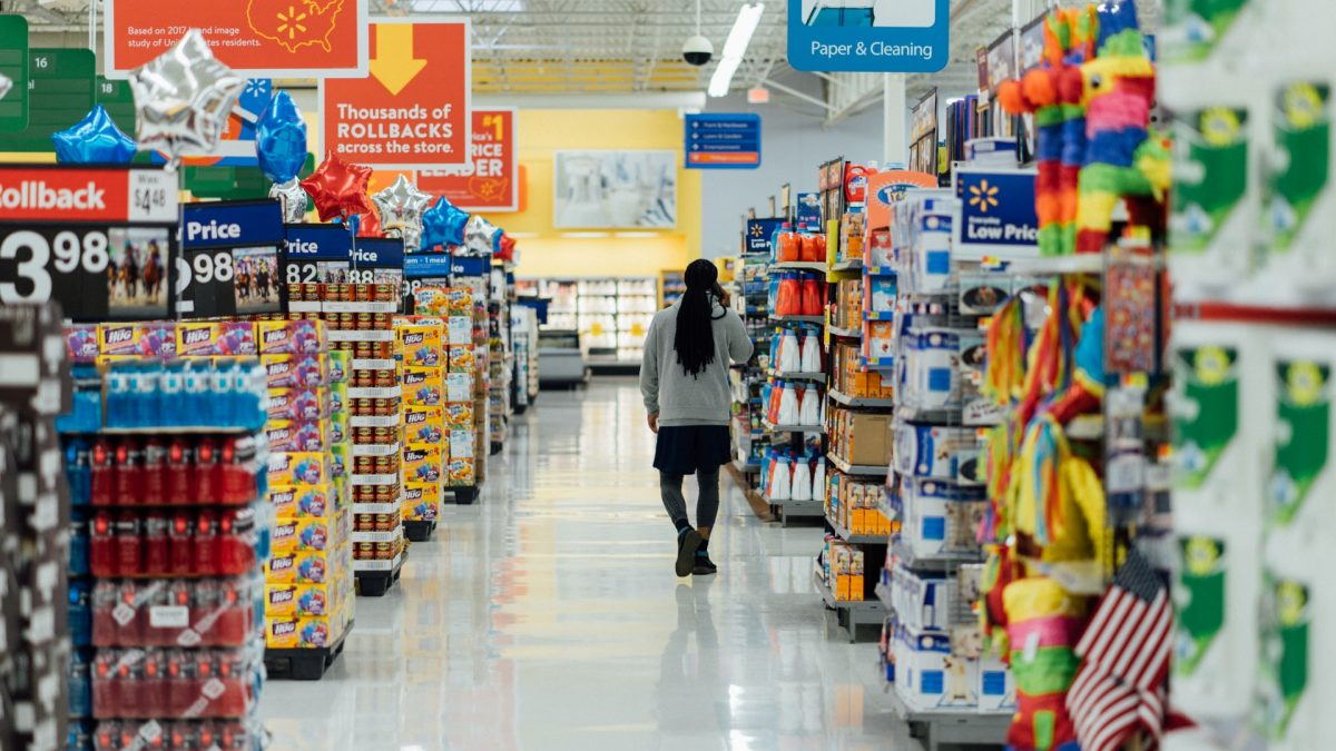 Durable epoxy flooring for a busy grocery store