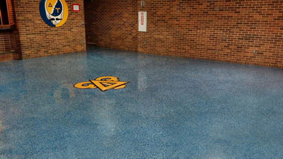 Epoxy Floor Designs Amp Logos Using Terrazzo