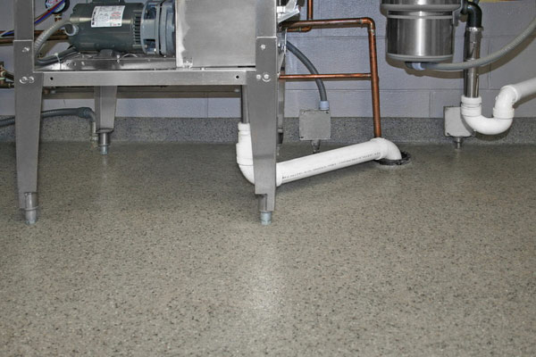 Durable commercial kitchen flooring