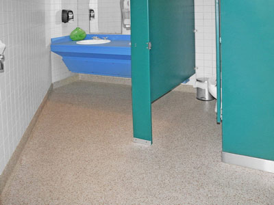 Commercial bathroom floor coating