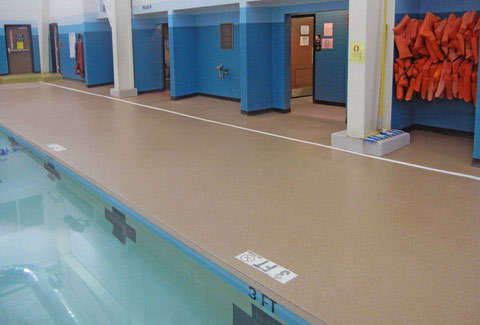 Epoxy flooring pool decking