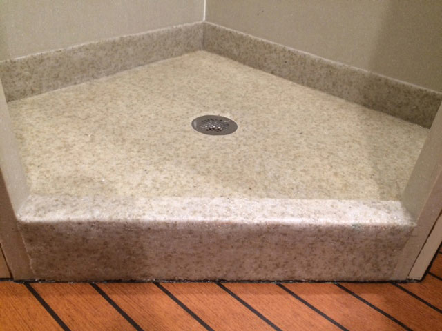 Marine on deck shower floor covering