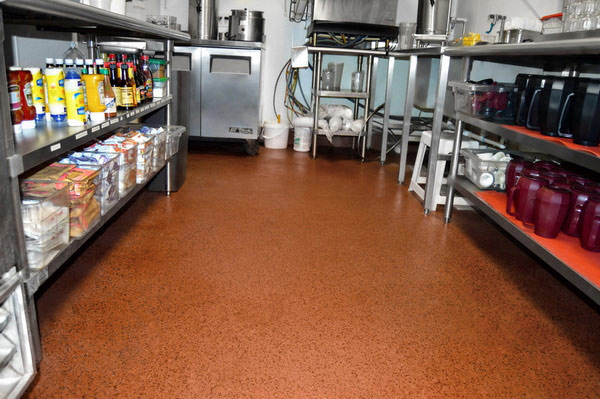 Healthy hygienic commerical kitchen restaurant flooring for Flooring suitable for kitchens