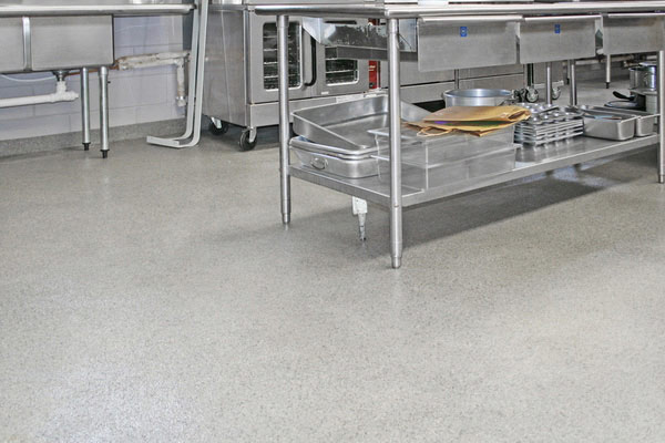 School kitchen flooring