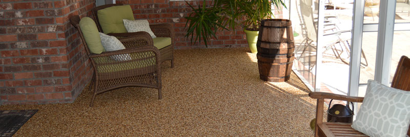 Polyavastic porch natural stone flooring