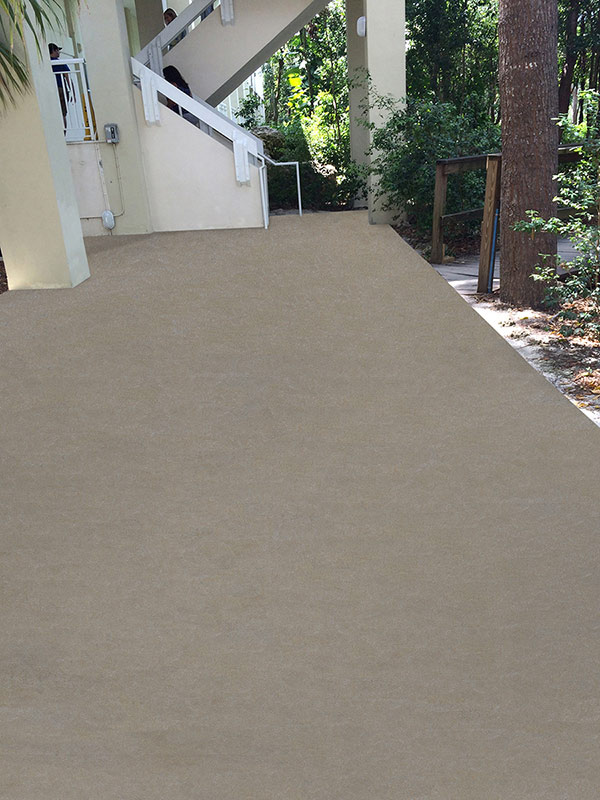 Outdoor Tough Polyavastic Concrete Coating