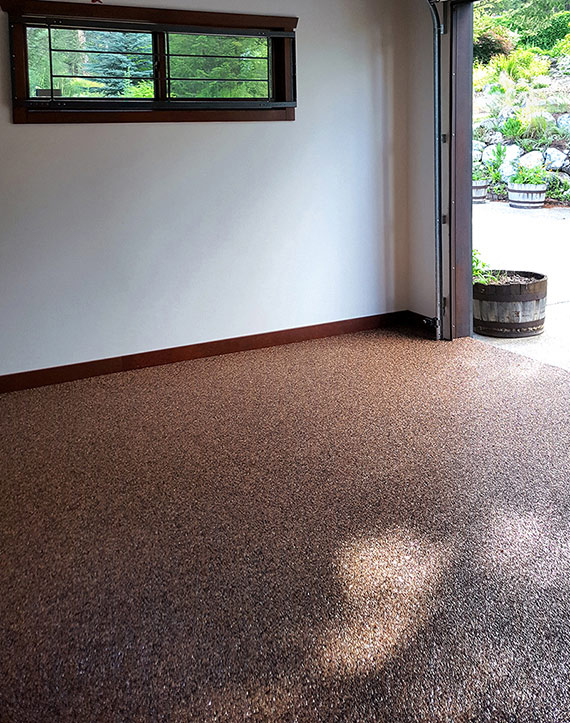 UV resistant garage flooring