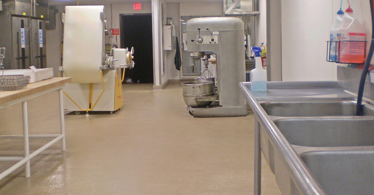 Easy To Clean Commercial Industrial Flooring